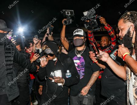 Stock Image of Lil Wayne attends DJ Stevie J's birthday celebration at The Urban his birthday