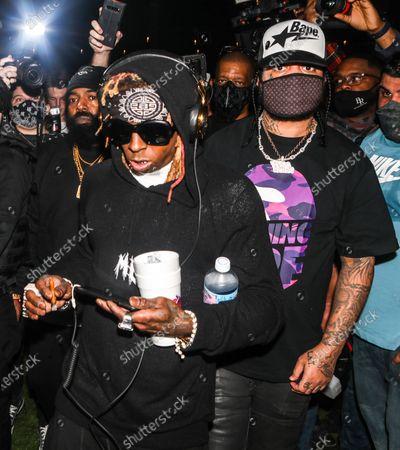Lil Wayne attends DJ Stevie J's birthday celebration at The Urban