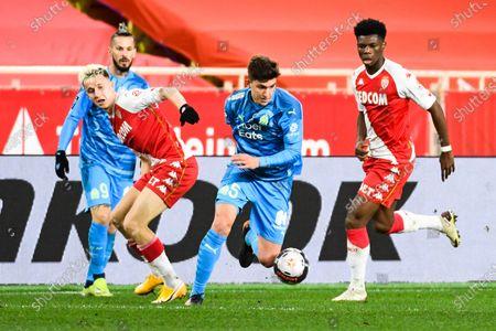Editorial photo of Monaco v Marseille, Ligue 1 football match, Monaco, Monte Carlo - 23 Jan 2021