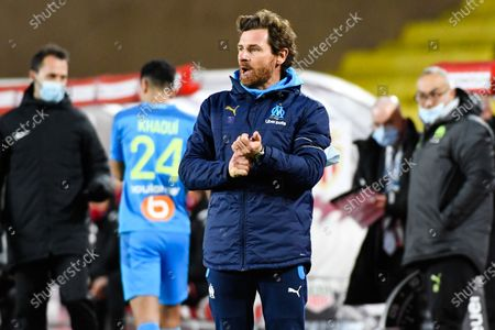 Stock Image of Andre Villas-Boas head coach of OM