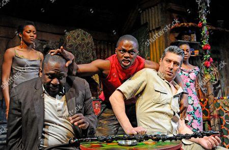 'Ruined' - Lucian Msamati (Christian), Okezie Morro (Jerome) and Silas Carson (Mr Harari)