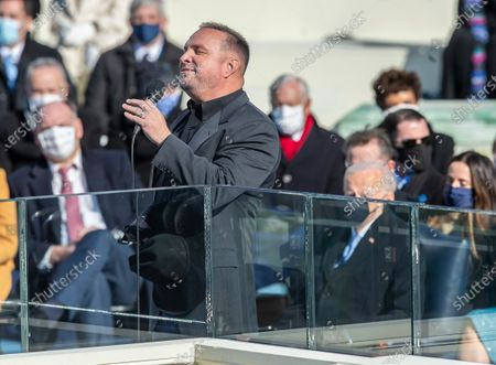 Stock Picture of Garth Brooks, preforms at the Inauguration of U.S. President Joe Biden and Vice President Kamala Harris before a small crowd on the West Front of the U.S. Capitol building