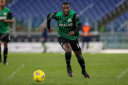 Pedro Obiang of US Sassuolo during the Italian Serie A football match between SS Lazio and US Sassuolo at Olimpico Stadium in Rome, Italy on January 24, 2021. SS Lazio won the match 2-1.