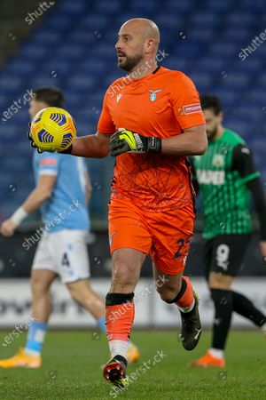Stock Picture of Goalkeeper Pepe Reina of SS Lazio during the Italian Serie A football match between SS Lazio and US Sassuolo at Olimpico Stadium in Rome, Italy on January 24, 2021. SS Lazio won the match 2-1.