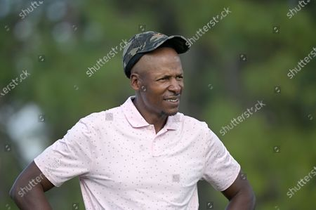 Former NBA basketball player Ray Allen waits to hit his tee shot on the 17th hole during the final round of the Tournament of Champions LPGA golf tournament, in Lake Buena Vista, Fla