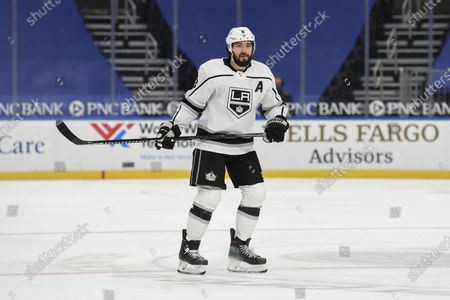 Los Angeles Kings' Drew Doughty (8) in action against the St. Louis Blues during the second period of an NHL hockey game, in St. Louis