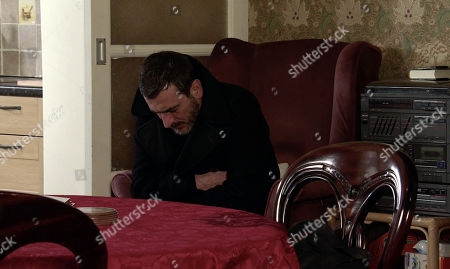 Coronation Street - Ep 10238 Monday 1st February 2021 - 2nd Ep Sweating profusely and on the brink of another seizure, Peter Barlow, as played by Chris Gascoyne, admits to Carla Connor that he's been tipping his medicinal whisky down the sink when Ken's back is turned.