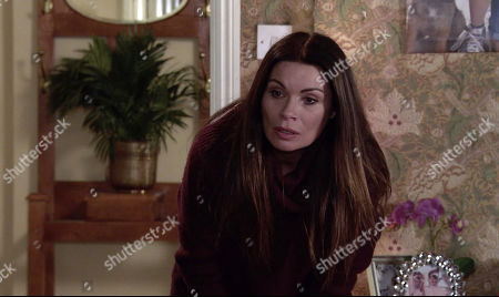 Coronation Street - Ep 10238 Monday 1st February 2021 - 2nd Ep Sweating profusely and on the brink of another seizure, Peter Barlow admits to Carla Connor, as played by Alison King, that he's been tipping his medicinal whisky down the sink when Ken's back is turned.