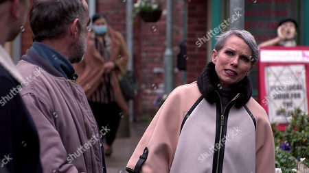 Coronation Street - Ep 10247 & Ep 10248 Friday 12th February 2021 Debbie Webster, as played by Sue Devaney, tells Sally Metcalfe that she'd like to hire the best lawyer for Faye and use Ray's money to fund it. Kevin Webster, as played by Michael Le Vell, is sceptical.