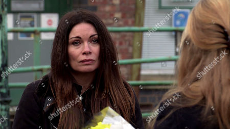 Coronation Street - Ep 10247 & Ep 10248 Friday 12th February 2021 Jenny Connor, as played by Sally-Ann Matthews, is angry that Carla kept Johnny's problem from her. Also Pictured - Carla Connor, as played by Alison King.