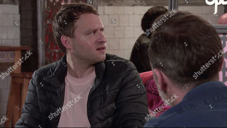 Coronation Street - Ep 10233 Wednesday 27th January 2021 - 1st Ep As Billy Mayhew, as played by Daniel Brocklebank, and Paul Foreman, as played by Peter Ash, sit down to dinner, Ajay arrives and thanks them for inviting him and Todd along. Billy's quietly furious.
