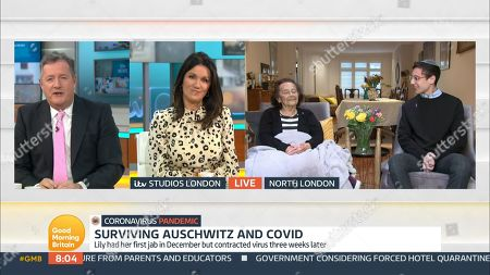 Stock Image of Piers Morgan, Susanna Reid and Lily
