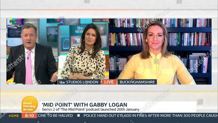 Piers Morgan, Susanna Reid and Gabby Logan