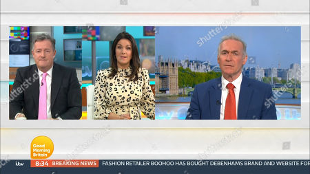 Editorial picture of 'Good Morning Britain' TV Show, London, UK - 25 Jan 2021