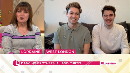 Lorraine Kelly and AJ Pritchard and Curtis Pritchard