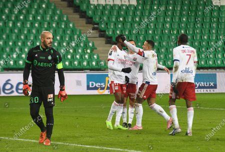 Tino Kadewere celebrate scoring