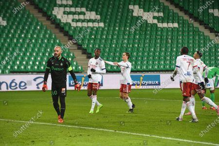 Stock Photo of Tino Kadewere celebrate scoring