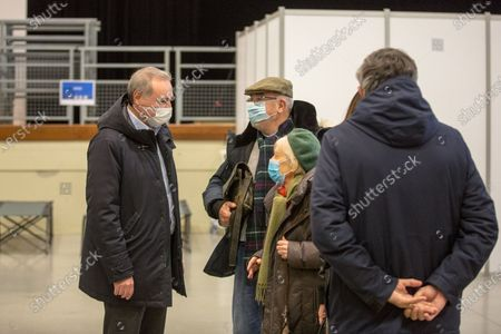 The mayor of Toulouse, Jean Luc Moudenc, visits a vaccination centre set up by the Toulouse town council with the medical order to combat the global Coronavirus epidemic, Covid 19.