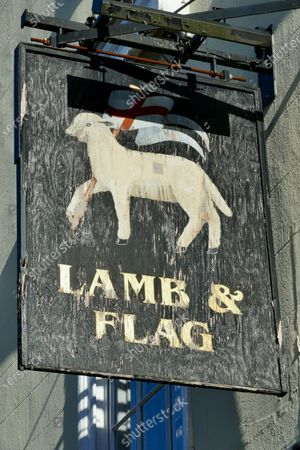 Stock Photo of The Lamb & Flag in Oxford that opened in 1566 and was a favourite of JRR Tolkien, CS Lewis and Thomas Hardy is forced out of business by lockdown, the pub owned by nearby St. John's College they named it after the two symbols of St John the Baptist: a lamb and a flag, shown on the innÕs sign. It is believed Thomas Hardy wrote much of his last novel Jude The Obscure in the late 19th Century at the pub and JRR Tolkien and CS Lewis's literary group the Inklings were also known to frequent the pub between the early 1930s and late 1949.
