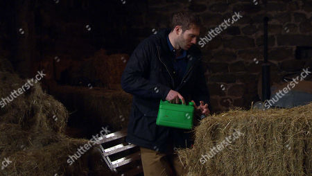 Emmerdale - Ep 8960 Thursday 4th February 2021 - 1st Ep As Dawn heads away Jamie Tate, as played by Alexander Lincoln, sees a real petrol canister and sets off to Butlers on foot with it. Jamie is unaware young Kyle is playing hide and seek in the barn as he begins to douse the place in petrol. Will Mack realise in time?