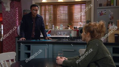 Stock Photo of Emmerdale - Ep 8958 Tuesday 2nd February 2021 Will Jai Sharma, as played by Chris Bisson, be able to help Laurel Thomas, as played by Charlotte Bellamy ?
