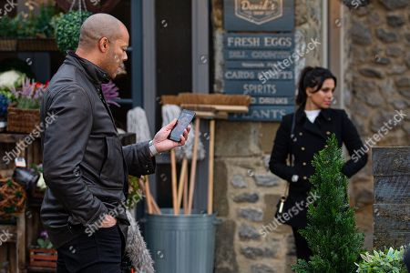 Emmerdale - Ep 8957 Monday 1st February 2021 Al Grant, as played by Michael Wildman, begs Priya Sharma, as played by Fiona Wade, about the missing money. We wonder if Priya is softening towards him.