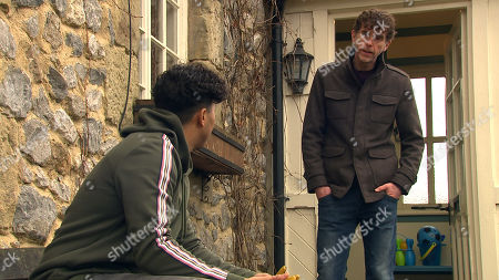 Emmerdale - Ep 8953 Wednesday 27th January 2021 Marlon Dingle, as played by Mark Charnock, is worried about Ellis Grant, as played Aaron Anthony.