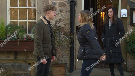 Emmerdale - Ep 8965 Wednesday 10th February 2021 When Noah Tate, as played by Jack Downham, realises Charity Dingle's, as played by Emma Atkins, interference, he lays into her for her selfishness, commenting that his life would have been better if she'd sold him forever. Goaded Charity slaps him...Has she gone too far? Also Pictured - Chas Dingle, as played by Lucy Pargeter.