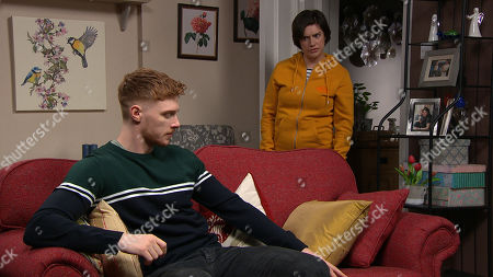 Emmerdale - Ep 8966 Thursday 11th February 2021 - 1st Ep Luke Posner, as played by Max Parker, tells Victoria Sugden, as played by Isabel Hodgins, they need to talk. She's stunned when he confesses that he's been with a man...