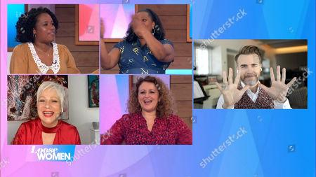 Charlene White, Brenda Edwards, Denise Welch, Nadia Sawalha and Gary Barlow