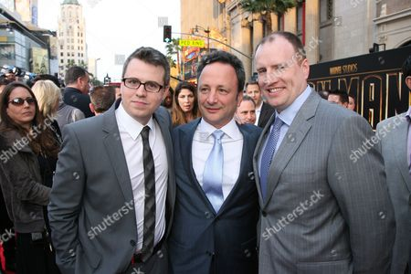 Producers Jeremy Latcham, Louis D'Esposito and Kevin Feige