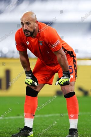 Stock Image of Pepe Reina (Lazio) during the match