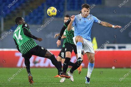 Pedro Obiang of Sassuolo, Ciro Immobile of Lazio, SS Lazio US Sassuolo, Serie A