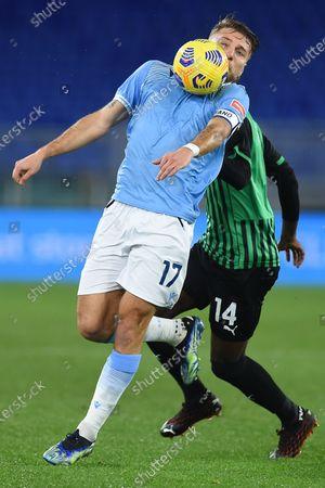 Ciro Immobile of Lazio, Pedro Obiang of Sassuolo, SS Lazio US Sassuolo, Serie A