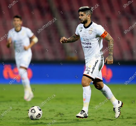 Al-Shabab's player Ever Banega in action during the Saudi Professional League soccer match between Al-Wehda and Al-Shabab at King Abdulaziz Stadium, Mecca, Saudi Arabia, 25 January 2021.