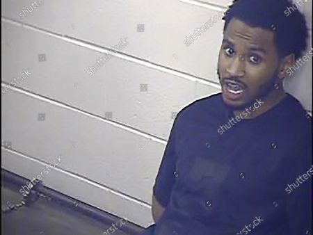 This undated photo provided by the Jackson County Detention Center, In Kansas City, Missouri shows Trey Songz. R&B artist Songz was arrested and jailed overnight after he scuffled with several officers while being arrested for not following coronavirus protocols during the AFC championship game in Kansas City, police said