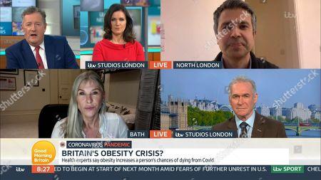 Piers Morgan, Susanna Reid, Dr Aseem Malhotra, Sharron Davies and Dr Hilary Jones