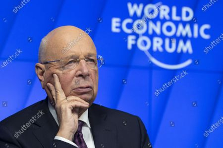 German Klaus Schwab, Founder and Executive Chairman of the World Economic Forum, WEF, waits prior a videoconference with German Chancellor Merkel at the Davos Agenda, in Cologny near Geneva, Switzerland, 26 January 2021. The Davos Agenda is taking place from 25 to 29 January 2021 as an online edition due to the coronavirus disease (COVID-19) pandemic.