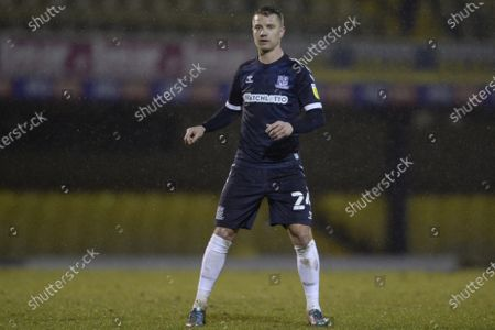 Jason Demetriou of Southend United in action during Sky Bet League Two match between Southend United and Bradford City at Roots Hall in Southend - 26th January 2021