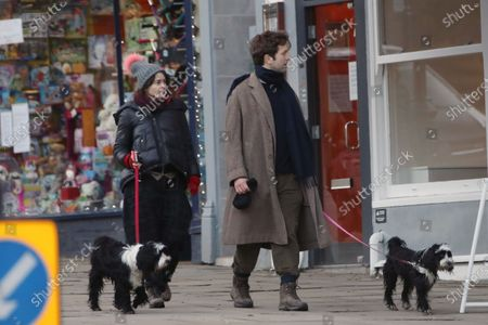Stock Photo of Exclusive - Helena Bonham Carter and Rye Dag Holmboe are seen walking their dogs