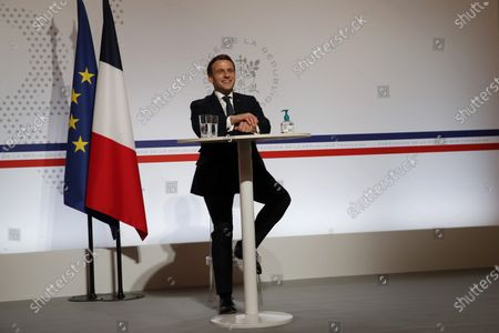 Editorial picture of French President Emmanuel Macron attends Davos Agenda video conference from Paris, Fra - 26 Jan 2021