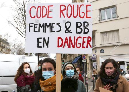Midwives protest, Paris