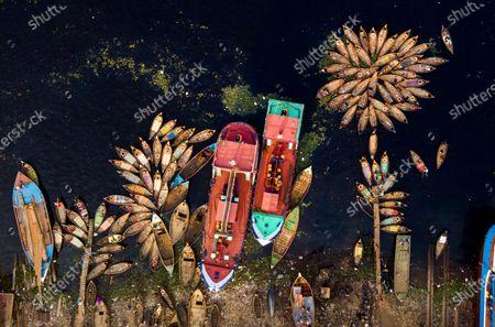 Boats on the Buriganga river