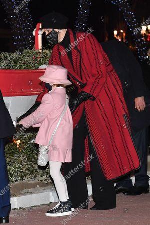 Princess Charlene of Monaco, Prince Jacques of Monaco, Princess Gabriella of Monaco and Prince Albert II of Monaco attend the Sainte Devote Ceremony. Sainte devote is the patron saint of The Principality Of Monaco and France's Mediterranean Corsica island