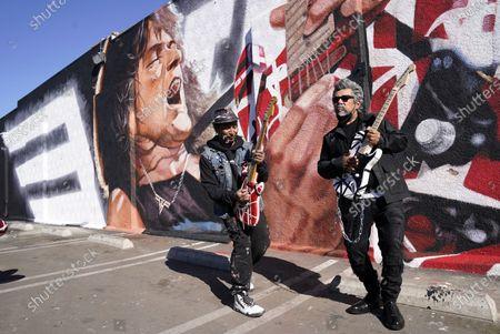 Editorial photo of Eddie Van Halen Mural Unveiling, Los Angeles, United States - 26 Jan 2021