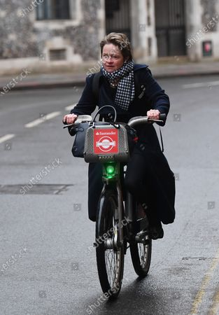 Stock Picture of Dido Harding, executive chair of NHS Test and Trace programme, on Great Smith Street, Westminster.