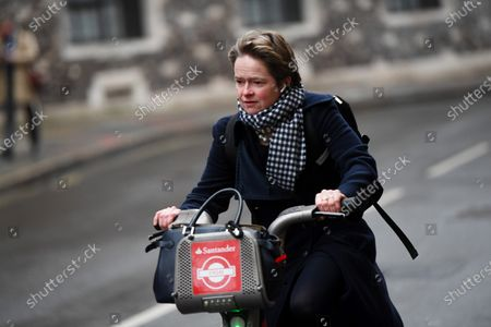 Stock Photo of Dido Harding, executive chair of NHS Test and Trace programme, on Great Smith Street, Westminster.