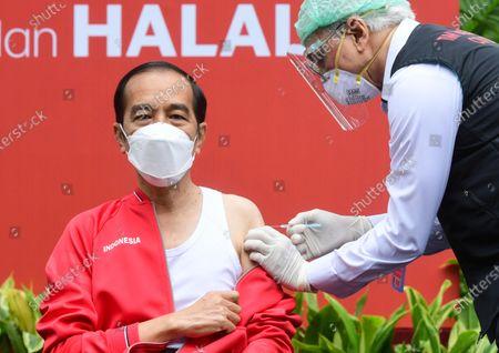 Indonesian President Joko Widodo receives COVID-19 vaccine, Jakarta