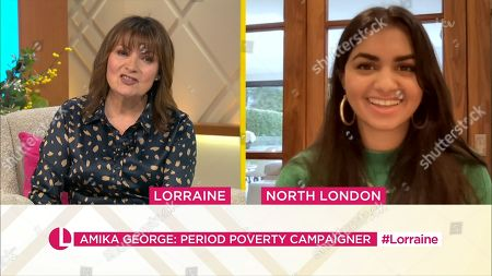 Lorraine Kelly and Amika George