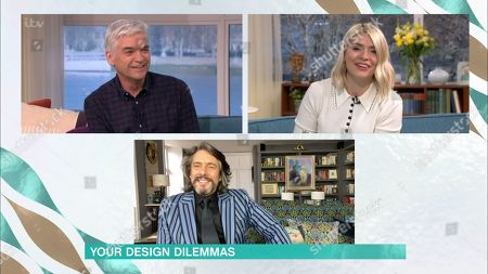 Stock Image of Phillip Schofield, Holly Willoughby and Laurence Llewelyn-Bowen